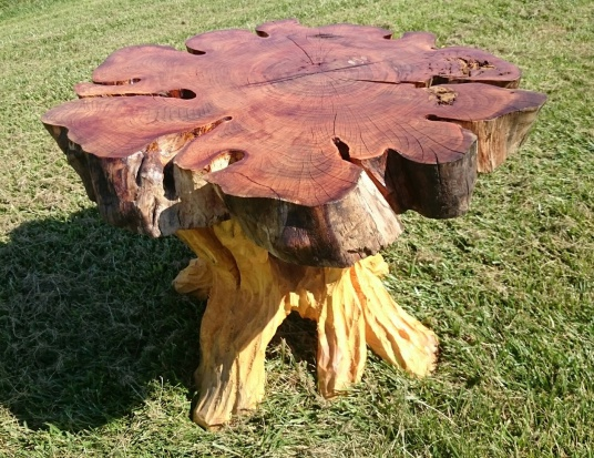 Chainsaw carving by paul benches furniture