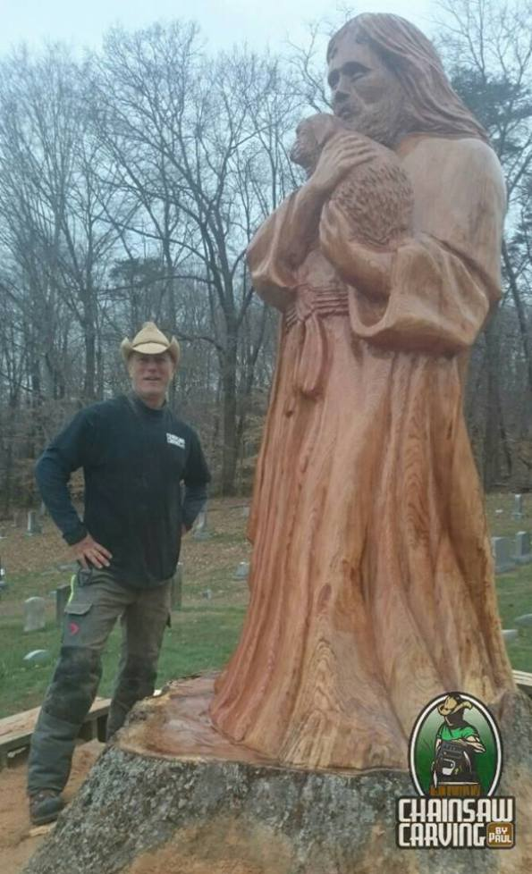 Chainsaw carving by paul home